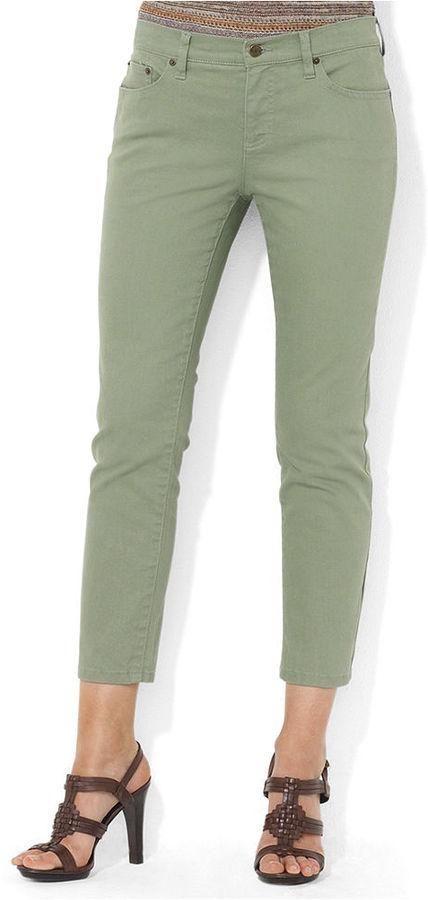 Lauren Ralph Lauren Jeans, Slim-Fit Straight-Leg Cropped, Pacific Sage Wash