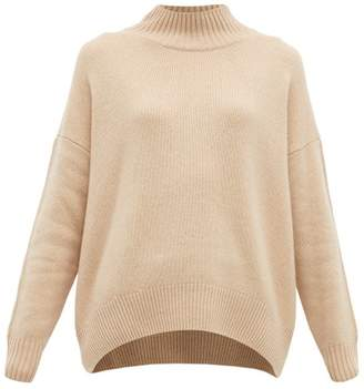 Allude High Neck Cashmere Sweater - Womens - Beige