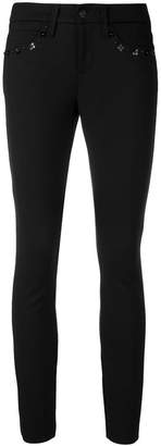 Cambio flower detail skinny trousers