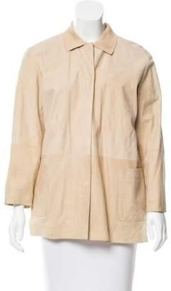 Loewe Pointed Collar Suede Jacket