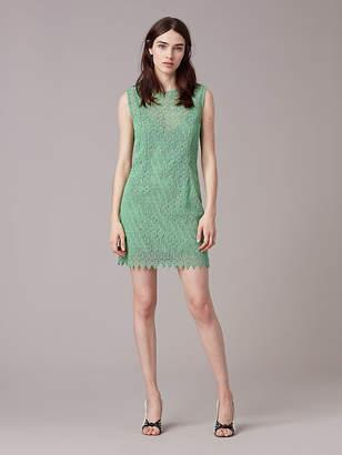 Diane von Furstenberg Tailored Overlay Mini Dress