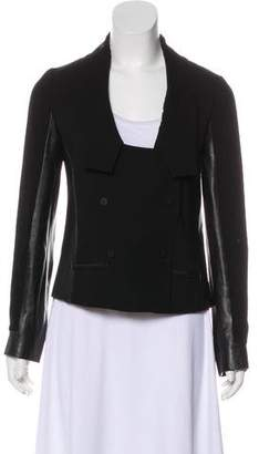 Diane von Furstenberg Saskia Leather Trim Jacket