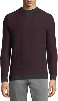 Neiman Marcus Contrast-Trim Cashmere Sweater