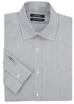 Saks Fifth Avenue Gingham Cotton Dress Shirt