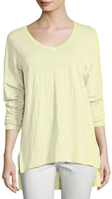 Eileen Fisher Organic Linen Jersey V-Neck Tunic $138 thestylecure.com