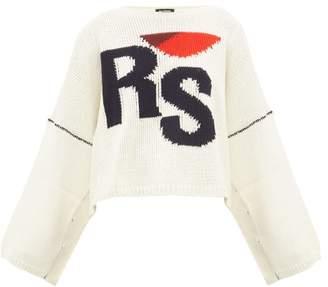 Raf Simons Cropped Wool Sweater - Womens - Cream Multi
