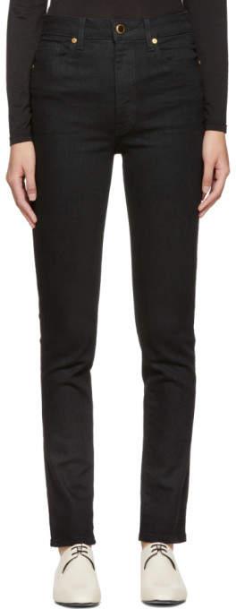Khaite Black Vanessa High-rise Jeans