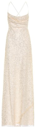 Galvan Whiteley sequined gown