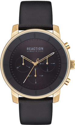 Kenneth Cole Reaction Men Analog-Digital Faux Leather Strap Watch 44mm