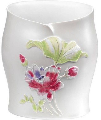 Generic Popular Bath Flower Haven Collection Bathroom Waste Basket