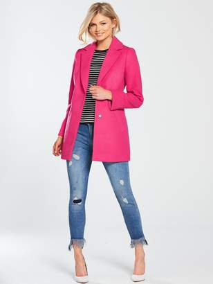 V By Very Petite V by Very Petite SIngle Breasted Formal Coat - Pink
