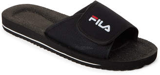 Fila Black Slip-On Low Slide Sandals