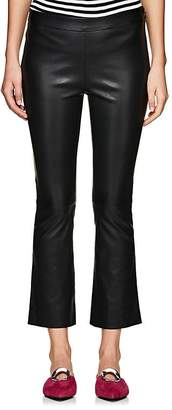 Lisa Perry Women's Leather Crop Flared Pants