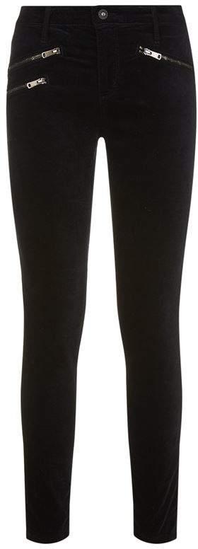 Ankle Moto Velvet Legging Jeans