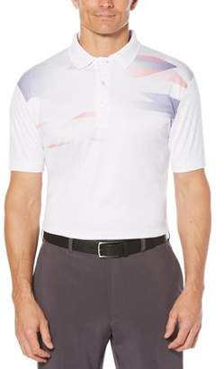 Hogan Ben Big Men's Performance Short Sleeve Printed Golf Polo