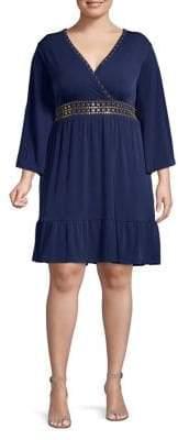 MICHAEL Michael Kors Deep V-Neck Dress