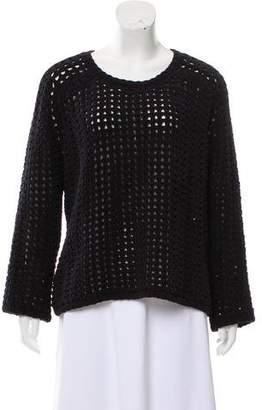 Balenciaga Open Knit Long Sleeve Sweater