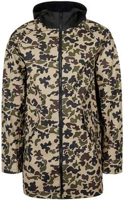 1968657aa012 Converse Camo Water Repellent Fishtail Parka with Contrast Hood