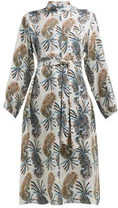 Etro Meadows Paisley Print Shirtdress - Womens - Grey Multi