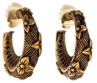 Stephen Dweck Floral Textured Hoop Earrings