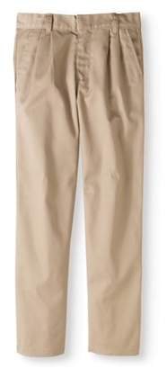 Genuine School Uniform Genuine Boys' Pleated Pant with Reinforced Knee