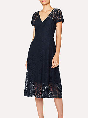 Paul Smith Cap Sleeve Lace Dress, Navy