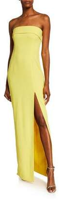 Jay Godfrey Oliver Strapless Column Gown with Slit