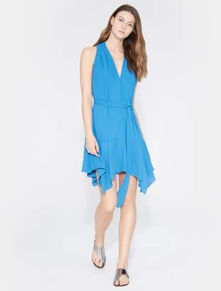 Halston Back Drape Flowy Dress