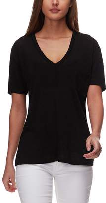 Monrow V-Neck Pocket T-Shirt - Women's