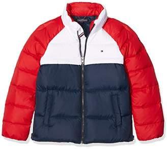 Tommy Hilfiger Girl's THKG RWB Down Colorblock JacketYears (Size: 10)