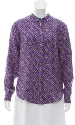 Isabel Marant Silk Long Sleeve Top