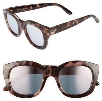 Le Specs Runaways 48mm Rectangular Sunglasses