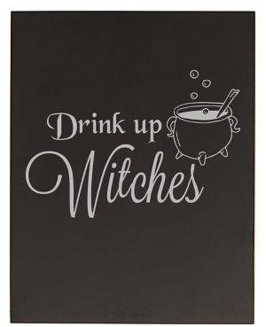 Cathy's Concepts Halloween and Harvest Drink up Witches Chalkboard