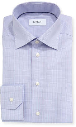 Eton Contemporary-Fit Tattersall Dress Shirt