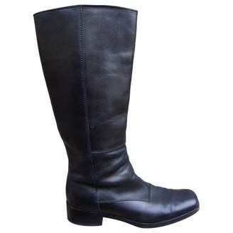 Miu Miu Black Leather Boots