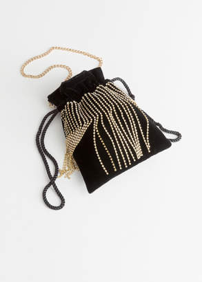 And other stories Jewelled Drawstring Bag