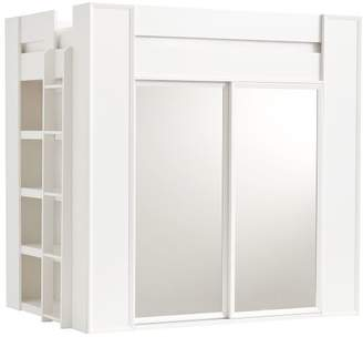 Pottery Barn Teen Sleep & Style Wardrobe Loft Bed, Lacquered Water-Based Simply White