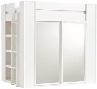 Pottery Barn Teen Sleep & Style Wardrobe Loft Bed, Simply White