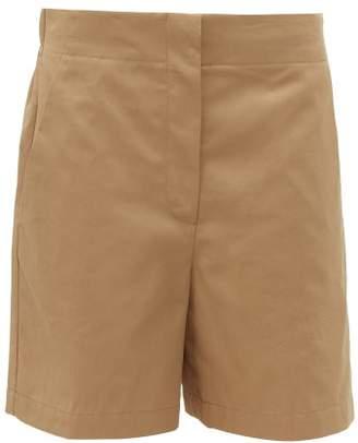 Raey Elasticated Back Cotton Shorts - Womens - Tan