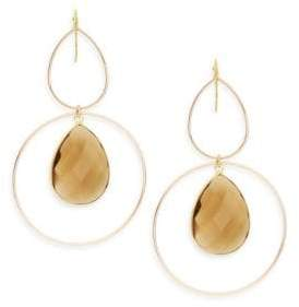 Panacea Quartz Teardrop & Double Hoop Earrings