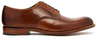 Grenson Liam Leather Derby Shoes - Mens - Tan