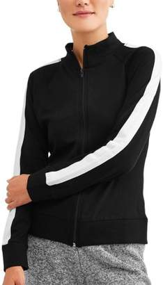 Generic Women's Athleisure Essential Athletic Stripe Mockneck Jacket