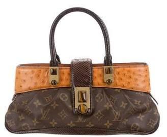 Louis Vuitton Snakeskin-Trimmed Monogram Waltz Macha Bag