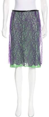 Alessandro Dell'Acqua Lace Knee-Length Skirt