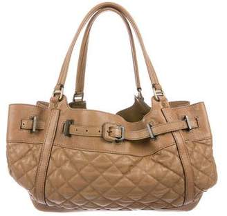 Burberry Quilted Leather Diaper Bag