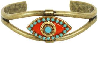 Michal Golan Jewelry Summer Coral Evil Eye Cuff