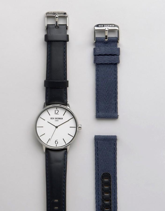 Ben ShermanBen Sherman Interchangable Strap Watch Gift Set