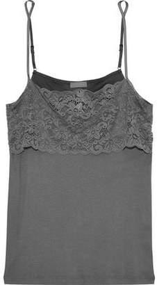Hanro Luxury Moments Lace-Paneled Cotton-Jersey Camisole