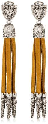 DSQUARED2 Western Suede Clip-On Earrings