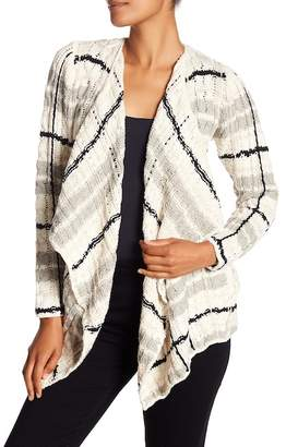 Chaser Plaid Knit Cardigan